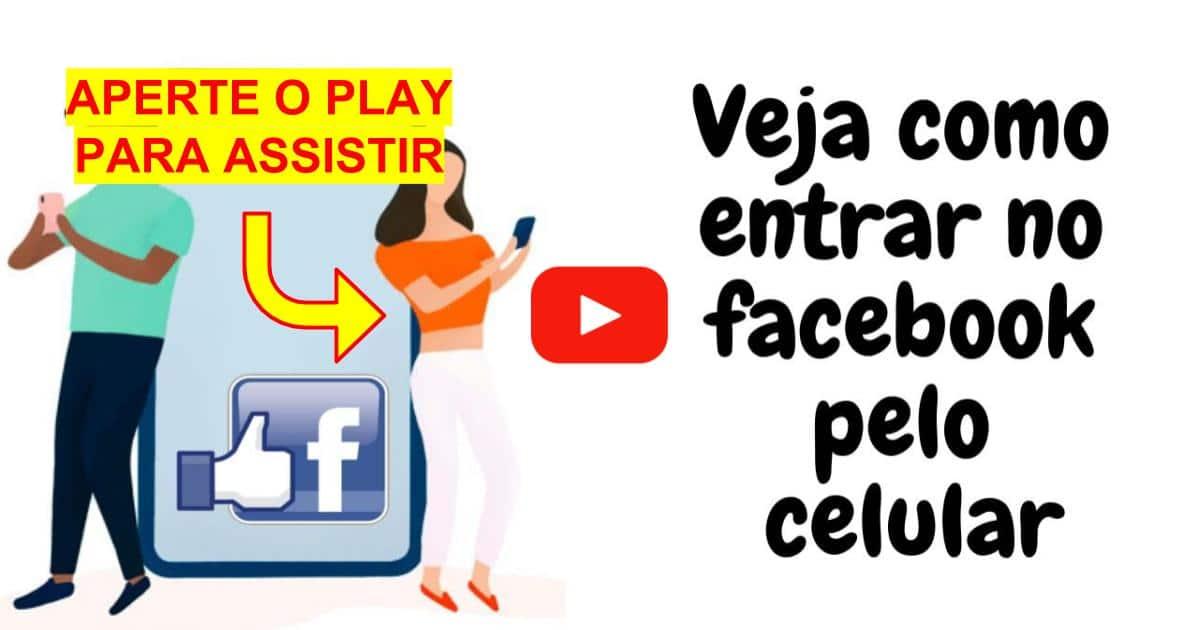 entrar no Facebook pelo celular