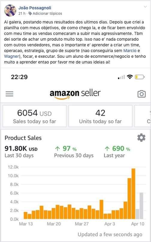 Amazon Ninja depoimento