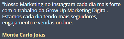 InstaGrowUp depoimento