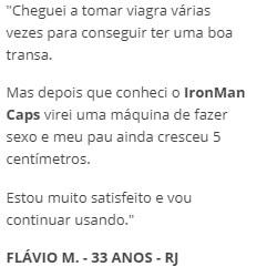 IronMan Caps Depoimentos