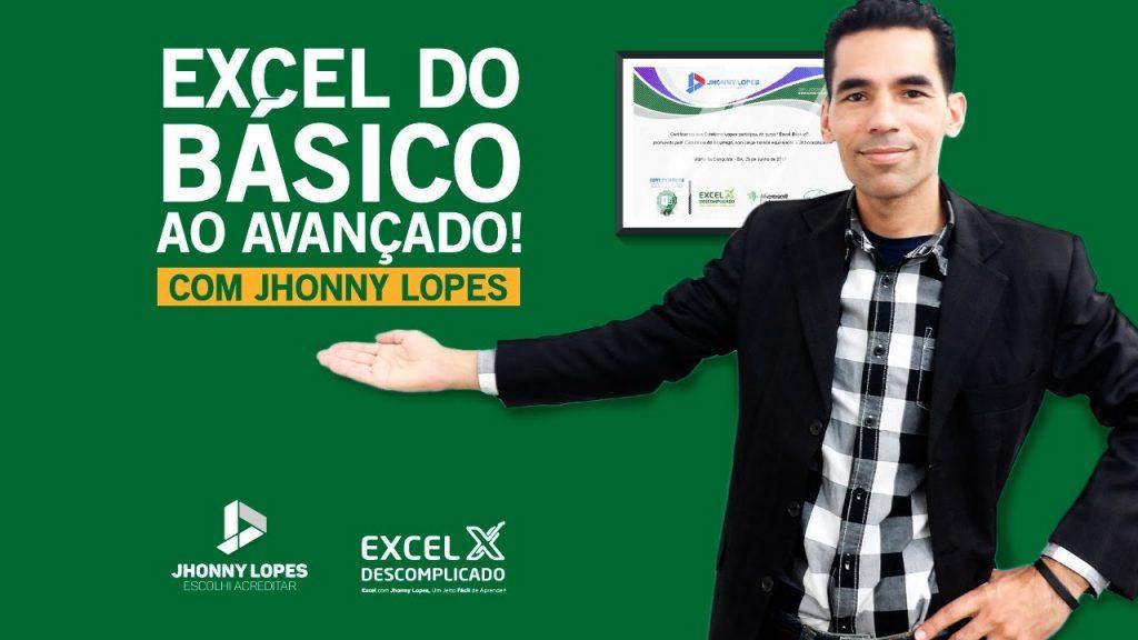 Curso de Excel Avançado do Jhonny Lopes
