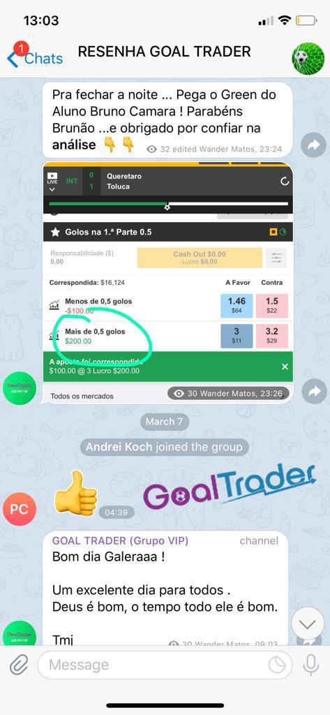 Goal Trader depoimento
