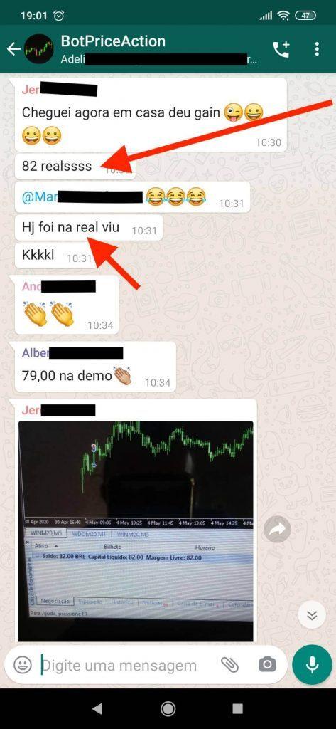 Robô Investidor Trader depoimento